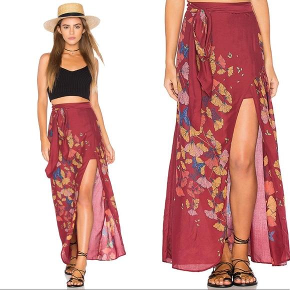 a88d675952 Free People Dresses & Skirts - Free People Bri Bri Butterfly Maxi Skirt 0  NWOT